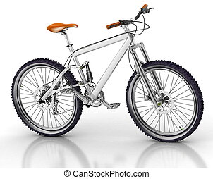 Bicycle isolated on white backgrou - Bicycle isolated on...