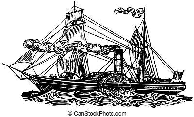 Boat Sirius at sea