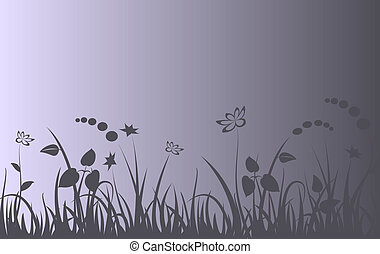 Evening meadow background