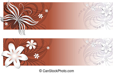 Flower banners