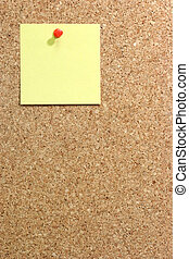 Yellow Paper - Colorful blank post it note affixed to the...