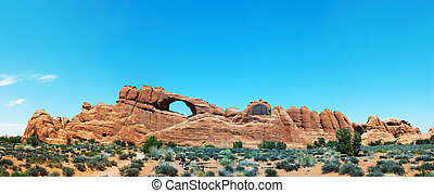 Scenic view at Arches National Park, Utah, USA in the noon...