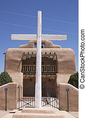 Cross Outside A Mission