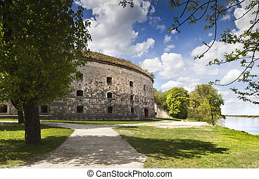 Backside gate of the famous fortress in Hungary, near the...