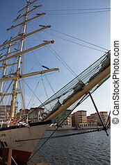 Frigate the Chopin in harbor of Goteborg, Sweden - Frigate...