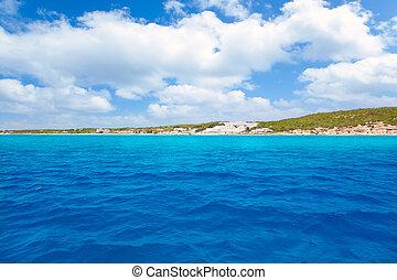 Formentera south Els Arenals Platja de Migjorn beach in...