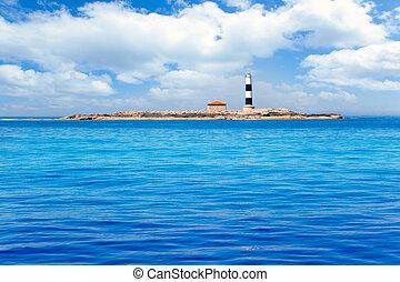 Formentera Freus faro en Pou lighthouse Porcs island de los...