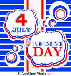 julio, 4, día, Plano de fondo, independencia