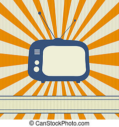 Retro TV background cartd with place for text