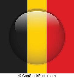 Belgium Flag Glossy Button
