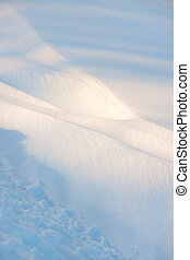 Snow drift - background of snow drift on bright winter day