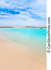 Els Pujols Formentera white sand turquoise beach - Els...