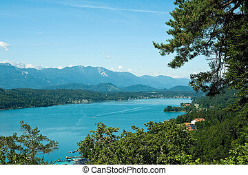 View of lake Woerther - View of Lake Woerther, Carinthia,...