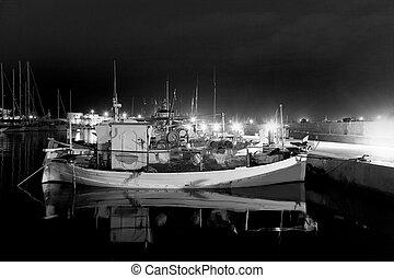 Formentera La savina port marina fisher boats