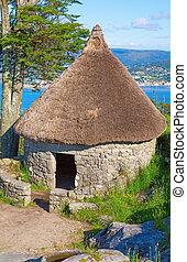 Celtic shack #1 - Vertical composition of Celtic shack in...