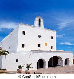 Ibiza Sant Josep de sa Talaia San Jose white church