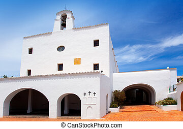 Ibiza Sant Josep de sa Talaia San Jose white church in...