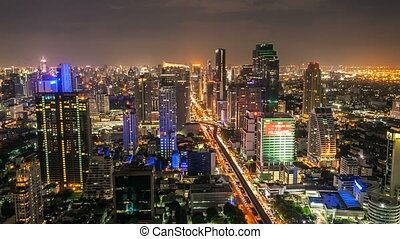 Bangkok night timelapse - Timelpase of Bangkok city at night...