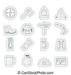 Tourism and Holiday icons - Vector Icon Set