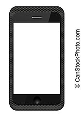 Vector smartphone in a grid cover isolated on white. Eps 10