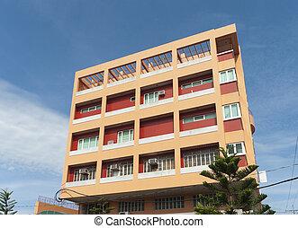 apartment building - orange apartment building in Naga city,...