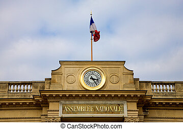 National Assembly Paris - Detail of the National Assembly...