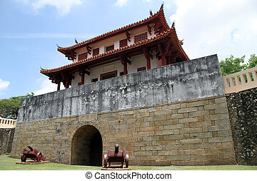 South gate of old city wall in Tainan, Taiwan
