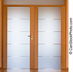 Modern living room door - View of a modern living room door,...