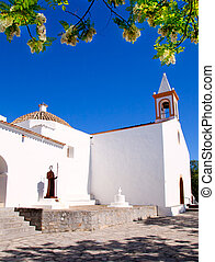Ibiza white church in sant Joan de Labritja