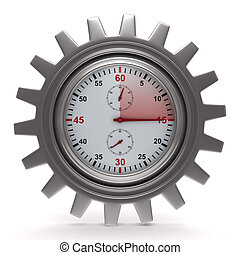 Stopwatch on white background Isolated 3D image