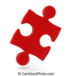 Puzzle on white background Isolated 3D image
