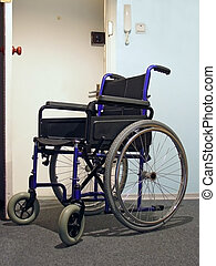 wheelchair in the hospital - Single wheelchair for patient...