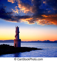 Sunset from La Savina lighthouse in Formentera - Ibiza...