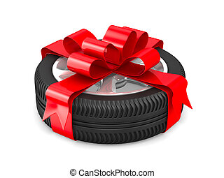disk wheel on white background Isolated 3D image