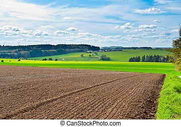 Plowed Field - Spring Plowed Field- Belgian Landscape