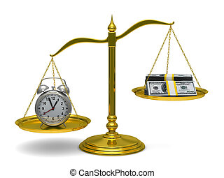 Time is money Isolated 3D image