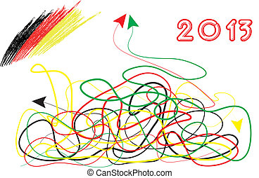 election in 2013 - Ruling parties - black-yellow-sinking in...