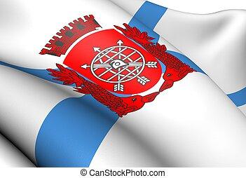Flag of Rio de Janeiro Close Up