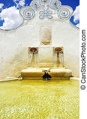 arraiolos, fuente, viejo,  portugal, aldea
