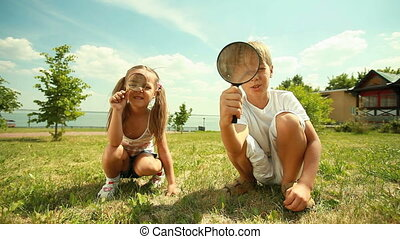 Young researchers - Young naturalists spending time outdoors...