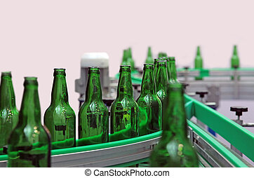 Glass bottles for beer - Technological line for washing of...