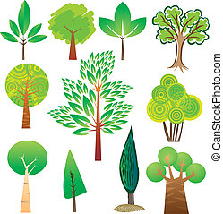 Tree samples - Samples of various tree species in various...