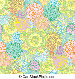 Hand drawn seamless floral pattern - Hand drawned design...
