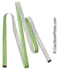 measuring tape isolated over white