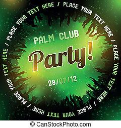 Green Party flyer vector template