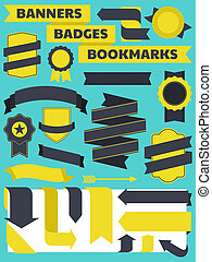 Banners, Badges and Bookmarks Colle