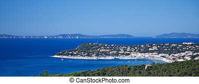 View over Cavalaire-sur-Mer at French Riviera.