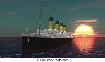 passenger ship and horizon
