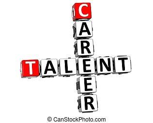 3D Career Talent Crossword