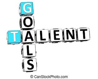 3D Goals Talent Crossword